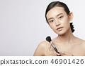 女性美容系列颜色背部化妆 46901426