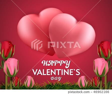 Happy Valentine's day red background banner  46902166