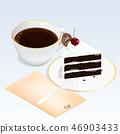 咖啡 蛋糕 饮料 46903433