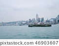 Star Ferry sailing at the Victoria Harbbour 46903607