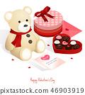 happy valentine's day,isometric chocolate gift box 46903919