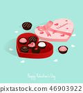 happy valentine's day,isometric chocolate gift box 46903922