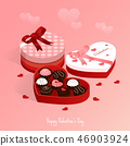 happy valentine's day,isometric chocolate cake 46903924