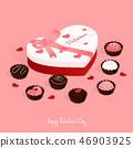 happy valentine's day,isometric chocolate cake 46903925