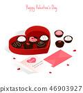 happy valentine's day,isometric chocolate cake 46903927
