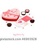 happy valentine's day,isometric chocolate cake 46903928