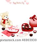 happy valentine's day,isometric chocolate gift box 46903930