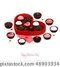 happy valentine's day,isometric chocolate cake 46903934
