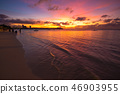 Sunset scenery in Guam 46903955