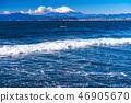 """""""神奈川縣""""我希望從富士山和片瀨海岸 46905670"""