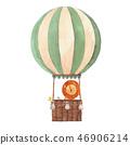 Watercolor air baloon illustration 46906214