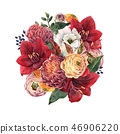 Beautiful floral composition 46906220