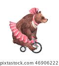 Watercolor circus bear 46906222
