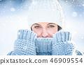 winter, woman, girl 46909554