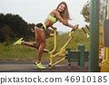 athlete exercise female 46910185