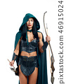 Beautiful and young girl making cosplay of fantasy creature. 46915024