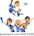 Soccer and supporters 46915499