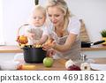 母亲 女儿 家庭 46918612