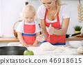 烹饪 母亲 女孩 46918615