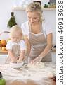 烹饪 孩子 母亲 46918638