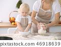 烹饪 孩子 母亲 46918639