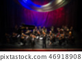 Artists symphony orchestra. abstract blurred image 46918908