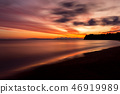 Beautiful sunrise at sea shore 46919989