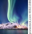 aurora mountain sky 46921086