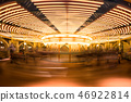 Motion blur carousel or merry-go-round 46922814