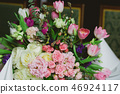 Beautiful flowers on table in wedding day. 46924117