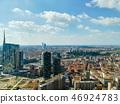 Milan aerial view. Milano city, Italy 46924783