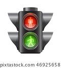 Realistic traffic lights for pedestrians - vector illustration 46925658