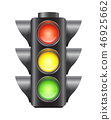 Realistic vector traffic lights for cars isolated 46925662