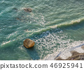 Breaking waves at Aphrodite Birthplace beach 46925941