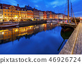 Copenhagen. The Nyhavn channel is at dawn. 46926724