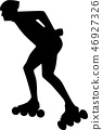 Man with Inline Skates 46927326