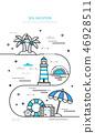 棕櫚樹 海鷗 夏天 46928511