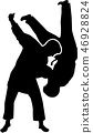 judo, fighter, silhouette 46928824