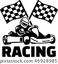 Goal flags and kart racing 46928985