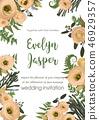 wedding invitation floral 46929357