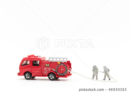 Fire brigade fire engine: firefighters and fire truck 46930383