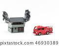 Fire house Fire engine: burning house, fire truck 46930389