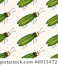 Seamless vector pattern vith cute 3d insect. 46933472