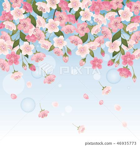 Vector illustration of cherry tree in spring 46935773