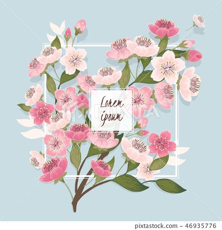 Vector illustration of cherry tree in spring 46935776