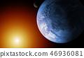 earth globe moon 46936081