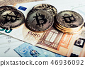 Crypto currency Bitcoin 46936092
