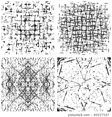 vector set of grunge distressed texture. - Stock Illustration ...