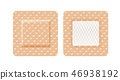 Square-shaped band aid 46938192