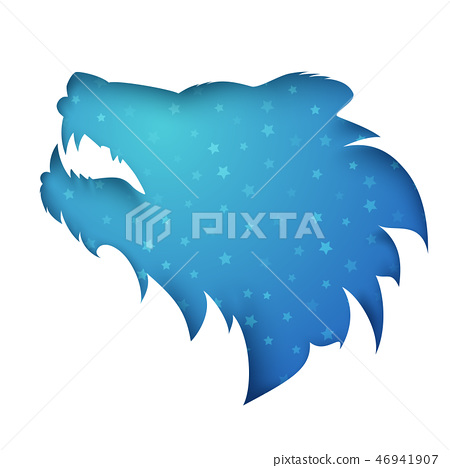 Cartoon paper bear on the white background. 46941907